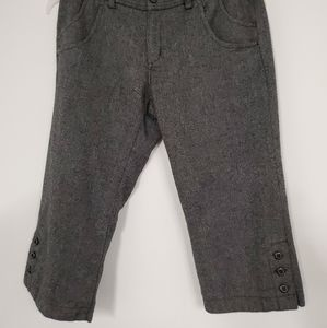 Old Navy lined wool blend skimmer capri pants sz.8